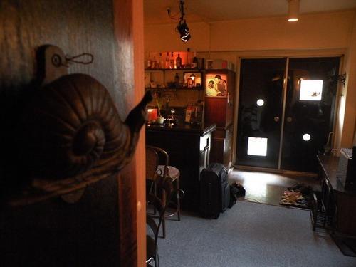 茶会記室内のドアの蝸牛